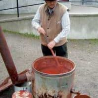rodfarg-houtverf-koken