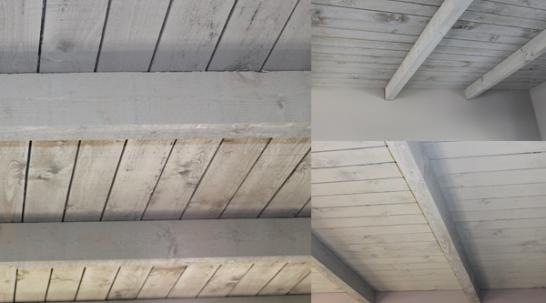 grey wash plafond schilderen
