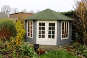 tuinhuis grijs