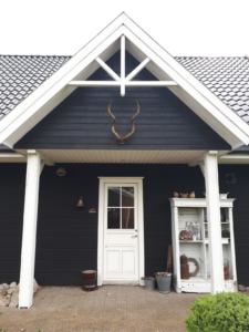 Diepzwart vasa svart zweeds huis in friesland