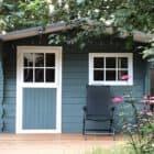 bohus blauw zweeds blauw tuinhuis