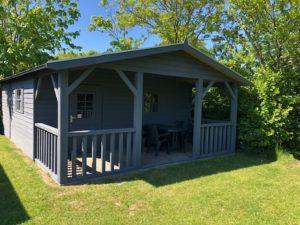 Watersnip skiffer gra camping hut